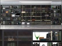 书房大气的书柜书架模型 高品质模型