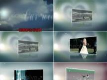 粒子背景图片婚礼介绍AE模板——775