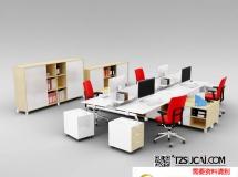 3D办公模型  现代办公室桌椅组合3D模型3D模型下载