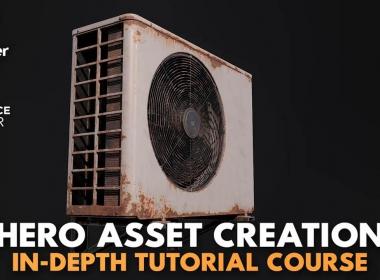 游戏三维模型材质制作教程 游戏方案流程教程Hero Asset Creation In-Depth Tutorial Course