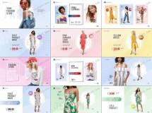 时装商店新品或促销活动的宣传视频海报AE模板