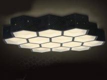 3D吸顶灯模型  创意蜂窝形LED吸顶灯下载