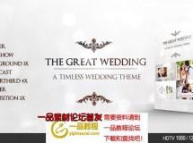 婚礼照片相册包装展示ae模板