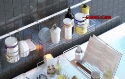 浴室置物架和洗浴用品3D模型