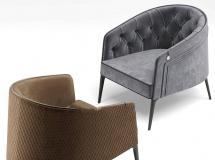 3D椅子模型  现代布艺休闲沙发组合3D模型下载