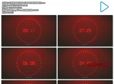 环形数字倒计时十分钟缓冲条视频素材