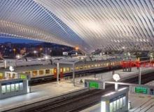 美丽整洁的火车站高清实拍延时视频素材