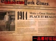 老报纸动画AE模板,Old Newspaper