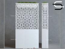 3D屏风模型   欧式镂空装饰屏风隔断下载