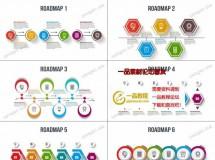 6款不同的路线图或工作流程图动画AE模板