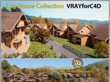 高品质欧洲小镇建筑模型下载