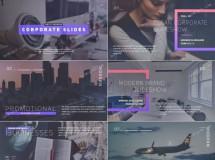拥有独特版式设计的简洁企业幻灯片展示AE模板