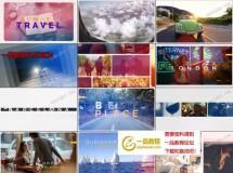 旅游旅行主题vlog展示动画AE工程,长短2版入