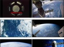 卫星与地球表面高清实拍宇宙星空素材