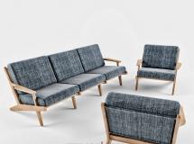 3D沙发模型  现代别欧沙发单椅组合3D模型素材下载