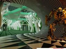 电影院走廊模型